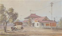 Sale 9180A - Lot 5001 - DAVID HAGAN (1943 - ) 'XXXX' Country oil on board 29 x 40.5 cm (frame: 46 x 66 x 4 cm) signed lower right