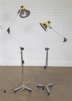 Sale 9255 - Lot 1189 - Pair of articulated floor lamps (h:180cm)