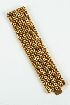 Sale 3701 - Lot 436 - A HEAVY 18CT GOLD MESH/CHAIN LINK BRACELET.