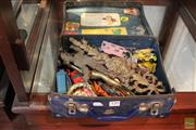 Sale 8217 - Lot 120 - Lesney Model Car with Other Model Cars & Metal Wares in a Vintage Carry Case