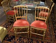 Sale 8310A - Lot 297 - A set of ten spindle back dining chairs with pink velvet upholstery and stud detail