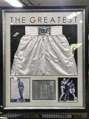 Sale 8805A - Lot 838 - Mohammed Ali Shorts, signed with COA