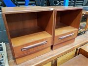 Sale 8908 - Lot 1057 - Near Pair of G-Plan Teak Bedside Lockers
