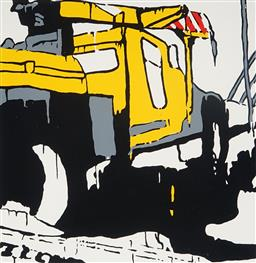 Sale 9150 - Lot 536 - JASPER KNIGHT (1978 - ) - Truck Overtaking 56 x 56 cm (frame: 88 x 88 x 4 cm)