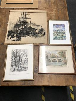 Sale 9152 - Lot 2066 - group of assorted paintings, decorative prints -