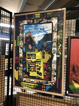 Sale 9176 - Lot 2070 - Together in this Place  1990 screenprint, a Villawood Multicultural Womens Community Arts Project / Jenny Pitty & Jenny Richardso...