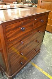 Sale 8093 - Lot 1725 - Victorian Mahogany Chest Of Five Drawers