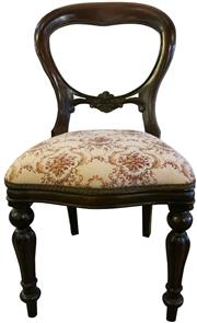 Sale 8258A - Lot 24 - Set of 10 mahogany balloon back dining chairs in Victorian style, RRP $295 each