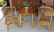Sale 8320 - Lot 811 - 3 piece childs dining set - 2 chairs and a tablecirca 1910