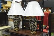 Sale 8347 - Lot 1077 - Pair of Chinese Museum Replica Lamps (4227)