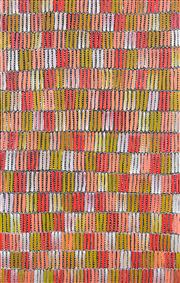 Sale 8374 - Lot 520 - Jeannie Mills Pwerle (1965 - ) - Bush Yam 152 x 98cm (framed & ready to hang)