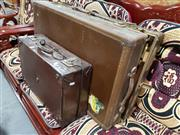 Sale 8697 - Lot 1623 - Large Vintage Suitcase and Another