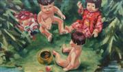 Sale 8722 - Lot 602 - Jeffrey Alan Harris (1949 - ) - Doll Play 43.5 x 74cm