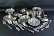 Sale 8835 - Lot 9 - Silver Plated Tablewares Incl. Cutlery