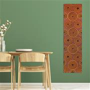 Sale 9043A - Lot 5061 - Sharon Hayes Peltharre - Ochre Colours 147 x 40 cm (stretched and ready to hang)