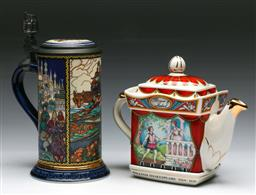 Sale 9144 - Lot 168 - A Sadler Romeo and Juliet teapot together with a Russian fairy tales stein