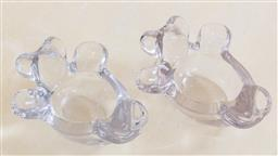 Sale 9165H - Lot 49 - A pair of bear form glass dishes, Length 13cm