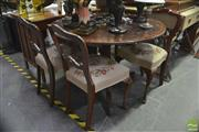 Sale 8312 - Lot 1067 - Timber Five Piece Dining Setting incl. Round Tilt Top Table and Four Chairs