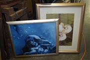 Sale 8422T - Lot 2042 - Framed Artworks (2) Atlas with Framed Print of an Orchid