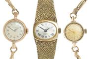 Sale 8605 - Lot 329 - LADYS VINTAGE 9CT GOLD WRISTWATCH AND TWO OTHERS;  a 9ct Movado and a gold plated Gruen Grand Prix, neither working, other a gold p...