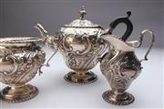 Sale 8689 - Lot 33 - Early 20th Century Silver Bachelor Teaset