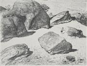 Sale 8764 - Lot 506 - Lloyd Rees (1895 - 1988) - Boulders at Werri Beach I, 1980 50 x 65cm