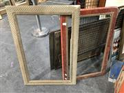 Sale 8776 - Lot 2085 - Pair of Vintage Timber Frames