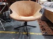 Sale 8904 - Lot 1058 - Canvas Upholstered Saucer Chair