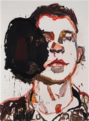 Sale 8961A - Lot 5009 - Ben Quilty (1973 - ) - Trooper Luke Korman, Tarin Kowt 90 x 66 cm (frame: 119 x 91 x 3 cm)