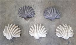 Sale 9255 - Lot 1250A - Set of five early shell form wall mount plant stands (d38cm)