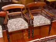 Sale 7997 - Lot 54 - A SET OF COLONIAL CEDAR BAR BACK CHAIRS COMPRISING 6 STANDARD CHAIRS AND 2 GENEROUSLY SIZED CARVER CHAIRS.