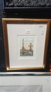 Sale 8433 - Lot 2048 - Dimitri, Pont Alexander, Watercolour, 12 x 9cm, signed lower right