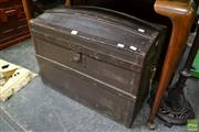 Sale 8489 - Lot 1022 - Vintage Domed French Carriage Trunk