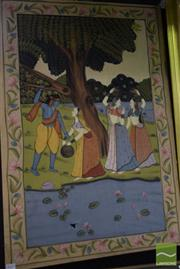 Sale 8497 - Lot 2027 - Indo-Persian Painting (A.F.), 91.5 x 61cm, unsigned
