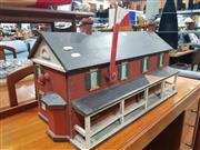 Sale 8723 - Lot 1052 - Vintage Model Railway Control House with US Post Box Interior