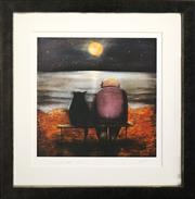Sale 8734A - Lot 45 - P Kuk - Man and his Cat 46 x 46cm (frame size)