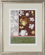 Sale 8759 - Lot 2011 - Vi Collings - Lichen , 1976 49.5 x 38cm