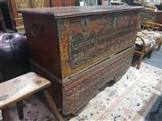 Sale 8760 - Lot 1027 - Large Indian Lift Top Trunk