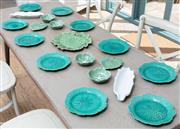 Sale 8866H - Lot 26 - A set of ten Wedgwood leaf plates in the Etruria pattern, diameter 22cm together with a small quantity of sundry portuguese leaf pla...