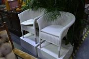 Sale 8039 - Lot 1033 - Pair of Cane Armchairs