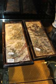 Sale 8096 - Lot 76 - Shoushan Stone with Mother Pearl Landscape Panel