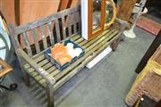 Sale 8129 - Lot 1046 - Timber Outdoor Bench