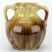 Sale 8214 - Lot 34 - John Campbell Brown & Yellow Drip Glaze Vase