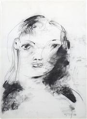 Sale 8410A - Lot 5037 - Anne Hall (1945 - ) - Untitled (Squinting Model) 76.5 x 56cm (sheet size)