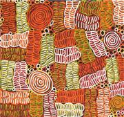 Sale 8647 - Lot 592 - Betty Mbitjana (1955 - ) - Awelye - Bush Melon 107 x 85cm