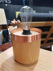 Sale 8863 - Lot 1053 - Modern Timber & Copper Luci Table  Lamp