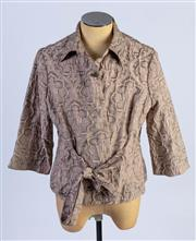 Sale 8926H - Lot 12 - A Mixit tie up jacket in rose de france with 3/4 length sleeves and rosebud buttons, size 18