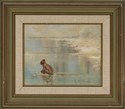 Sale 9163 - Lot 2037 - Anita Newman Midsummers Day, 1980 oil on canvas 51 x 58cm (frame) signed lower left -