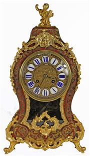 Sale 7988 - Lot 77 - French Gilt Boulle Clock