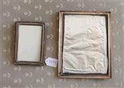 Sale 8250 - Lot 8 - A Elizabeth II Sterling Silver Photo Frame , Birmingham 1976,  together with a silver plated photo frame (2)
